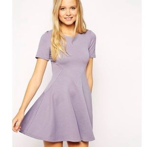 ASOS lavender new fit and flare dress 8